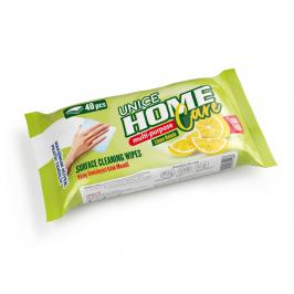 6427001 UNICE Çok Amaçlı Temizleme Mendili Limon Ferahlığı, 40 adet