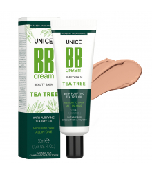3642012 Unice Tea Tree (Çay Ağacı) BB Cream Medium to Dark, 50 ml
