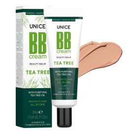 3642012 Unice Tea Tree (Çay Ağacı) BB Cream Medium to Dark, 50 ml