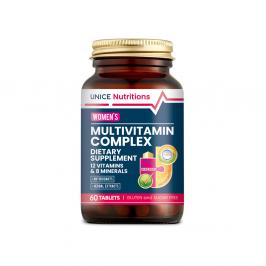 4743038 Unice Nutritions Multivitamin, Mineraller ve Bitki Ekstreleri İçeren Takviye Edici Gıda- Kad
