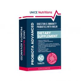 4743042 Unice Nutritions Probiyotik Mikroorganizmalar ve İnulin İçeren Takviye Edici Gıda, 60 Tablet
